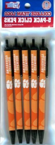 NCAA Clemson Tigers Disposable Click Pens