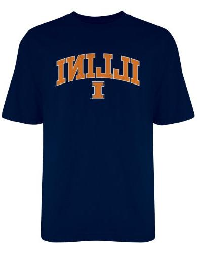 NCAA Illinois Illini Gildan T-Shirt, Large, Navy