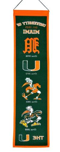 Miami Hurricanes Official Wool Heritage Banner by Winning