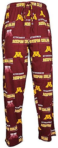 NCAA Minnesota Golden Gophers Mens Maroon Fusion Pajama