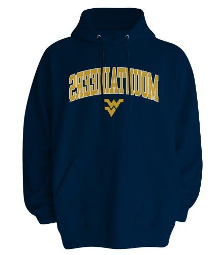NCAA West Virginia Mountaineers Gildan Hoodie, Small, Navy