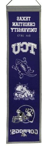 NCAA TCU Horned Frogs Heritage Banner