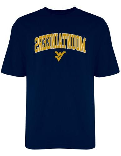 NCAA West Virginia Mountaineers Gildan T-Shirt, Medium, Navy