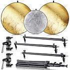 Neewer Collapsible Gold/Silver Panel Reflector Kit with