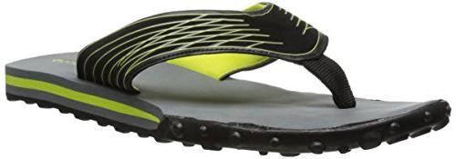 Gold Toe Men's Neon Accent Flip Flop, Grey/Red, 11 M US
