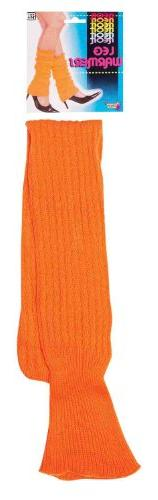 Forum Novelties Neon Leg Warmers, Orange, One Size