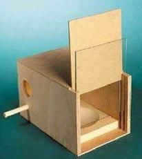 Posh Pets Nesting Box With Glass Slide Suitable For Budgies