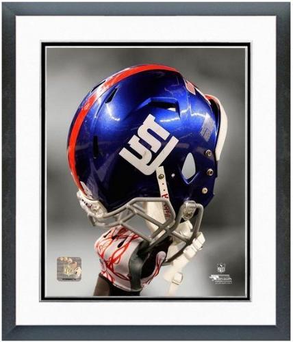 New York Giants Helmet Spotlight Photo  Framed