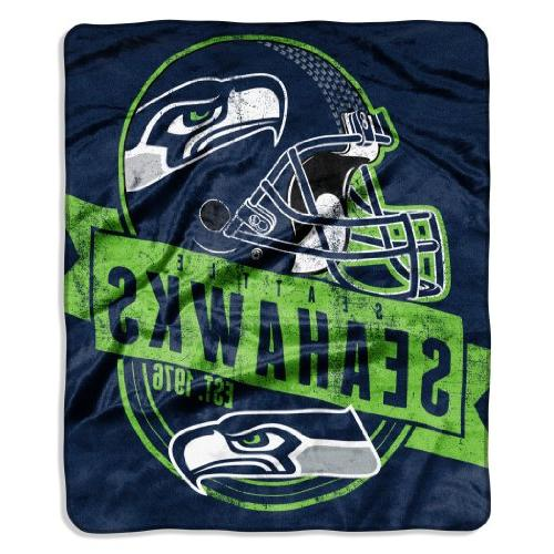 NFL Seattle Seahawks Grand Stand Raschel Throw, 50 x 60-Inch