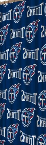 NFL Tennessee Titans 72-Inch-by-72-Inch Shower Curtain