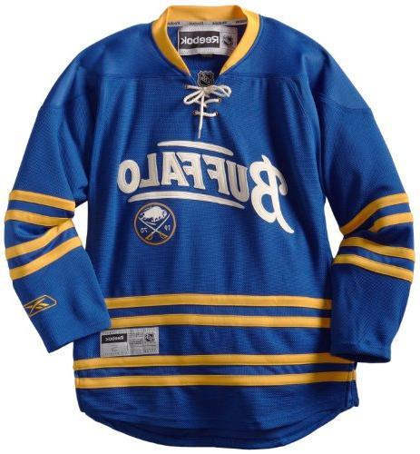 NHL Buffalo Sabres Premier Jersey, Navy, X-Large