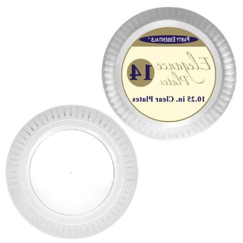 Party Essentials N101421 Elegance Hard Plastic Round Dinner