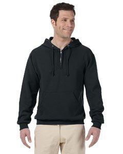 Jerzees Adult NuBlend Quarter-Zip Hooded Sweatshirt - True