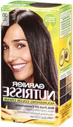 Garnier Nutrisse Haircolor, 30 Darkest Brown 1 ea