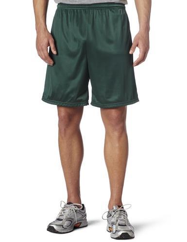 Men's Nylon Mini-Mesh Fitness Short Dark Green  Medium