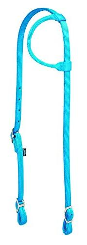 Weaver Leather Nylon Sliding Ear Headstall, Hurricane Blue