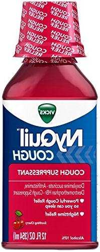 Vicks Nyquil Cough Nighttime Relief Cherry Flavor Liquid 12