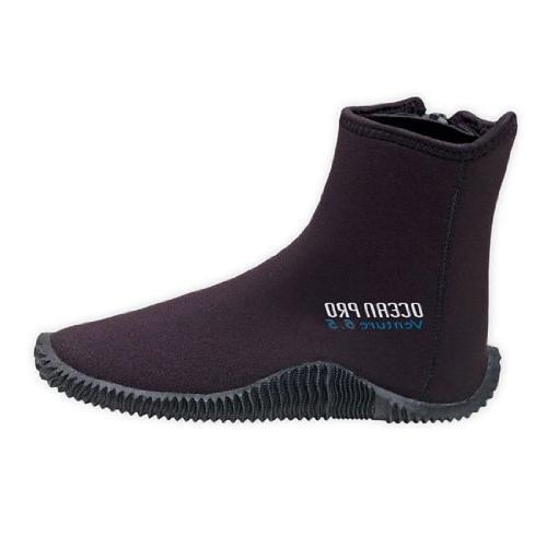 Ocean Pro Venture 5 mm Molded Sole Boots, Black - 15