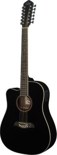 Oscar Schmidt OD312CEB 12-Strings Acoustic-Electric Guitar