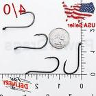 100x Size #6/0 Offset Octopus Fishing Hooks Black hook