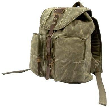 Olive Drab Stonewashed Heavyweight Army Backpack with