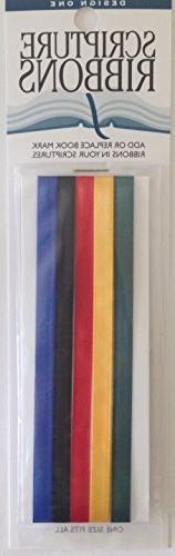 Design One Scripture Ribbons - Provides Bookmark/Quick