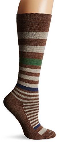 Sockwell Women's Orbital Stripe Socks, Bark, Medium/Large