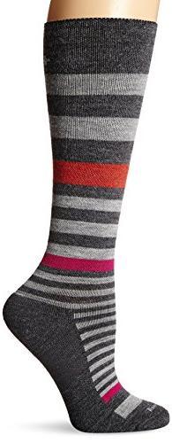 Sockwell Women's Orbital Stripe Socks, Charcoal, Medium/