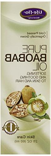 Life-Flo Organic Pure Baobab Oil, 2 Ounce