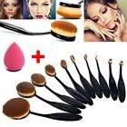 10Pcs Oval Toothbrush Makeup Brushes Set Soft Brush
