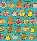 OWLIE OWL GIFT WRAPPING PAPER -Two 30 In x 6 Ft Sheets