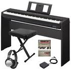 Yamaha P-45 Digital Piano - Black HOME ESSENTIALS BUNDLE