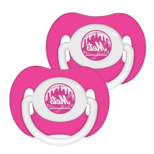Baby Fanatic Pink Pacifier, Green Bay Packers, 2-Count