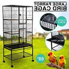 "Large 69"" Parrot Bird Cage Pet Swivel Conures Iron w/Perch"