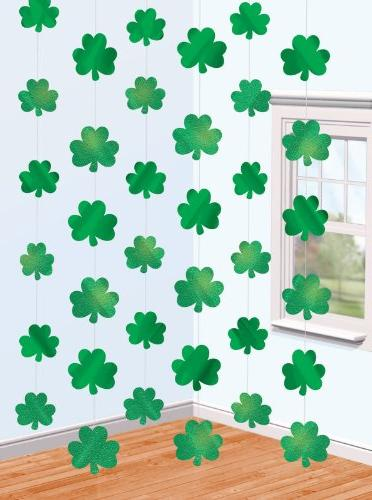 St. Patrick's Day Shamrock String Decorations Party