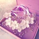 Pearl Flower Crystal Rhinestone Wedding Bridal Headband Clip
