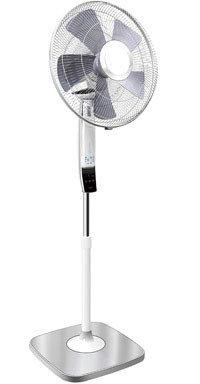 Pelonis Stand Fan 16 In. Oscillating 3 Speed Silver, White