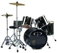 "GP Percussion Performer"" 5 Piece Full Size Drum Set"