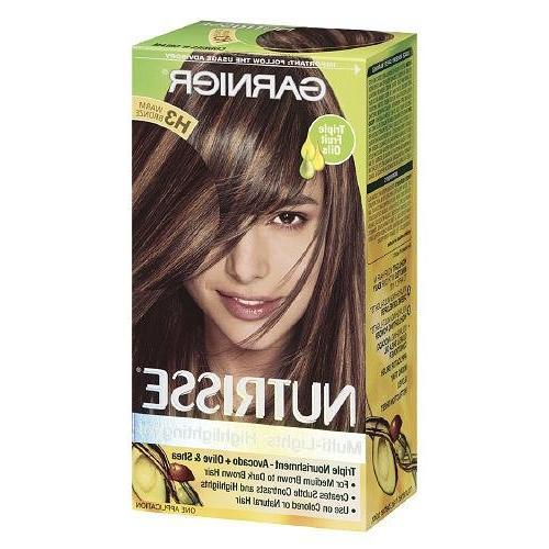 Garnier Nutrisse Permanent Creme Haircolor H3 Warm Copper, 1