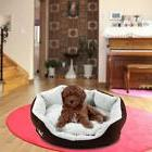 HOT Pet Bed Puppy Nest Cat Cozy Soft Warm Fleece Nest Coffee