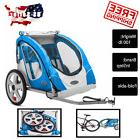 Pet Bike Trailer 2 Seat Child Bicycle Carrier Stroller New