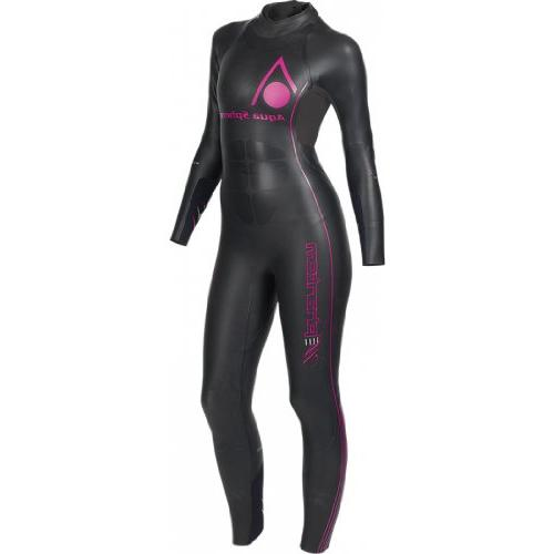 AQUA SPHERE Phantom Full Sleeve Ladies Wetsuit, Black/Pink,