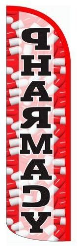 """PHARMACY X-Large """"WINDLESS"""" Swooper Flag by Alotta Signs"""