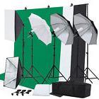 Photographic Equipment Studio Lighting Set Umbrella Softbox Backdrop Stand Kit