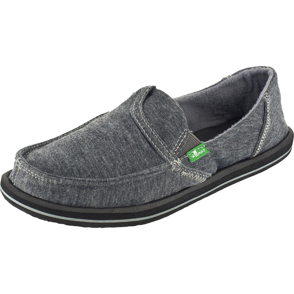 Sanuk Pick Pocket Fleece Shoe - Women's Charcoal, 10.0