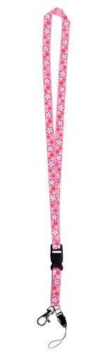 Pink Floral Lanyard 21