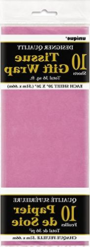 """26"""" x 20"""" Hot Pink Tissue Paper Sheets, 10ct"""