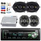 Pioneer Bluetooth Car CD Stereo, 400W Amp and Kit, Kicker