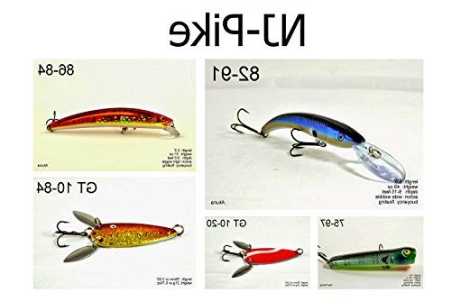PK5A Pike and Northern Fishing Lure for USA 50 States ,