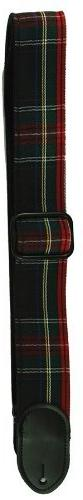 LM Products PL2R 2-Inch Red Plaid Guitar Strap